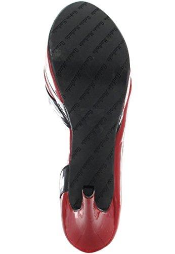 SALE - ANDRES MACHADO - Damen Plateau Peeptoe High Heels - Lack Rot Schuhe in Übergrößen