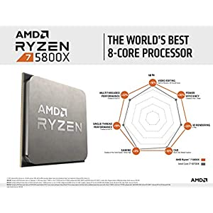 AMD Ryzen 7 5800X 8-core, 16-Thread Unlocked Desktop Processor