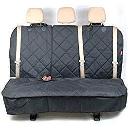 Maximo Active Rear Car Seat Cover for Dogs and Family – Fits Most Cars and SUVs – Middle Seat Belt Compatible.