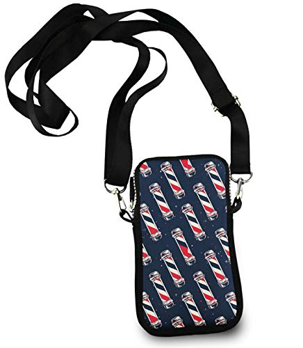 KYWYN Fashion Crossbody Bag, Vintage Barber Pole Flag, Women's Cell Phone Wallet Purse for Shopping Dating Cycling Traveling - with Adjustable Straps
