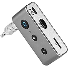 AGPTEK Portable Car Aux Bluetooth Adapter & Wireless Bluetooth Receiver for Music Streaming Sound Speaker System, Hands free Bluetooth Audio Adapter with 3.5mm Car Kits Jack Receiver