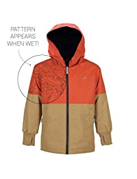 Therm Wind and Waterproof Lightweight Rain Jacket with Magic Print