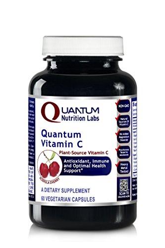 Quantum Vitamin C, 60 Vegetarian Capsules - Plant-Source Vitamin C Formula - Quantum Antioxidant, Immune and Optimal Health Support