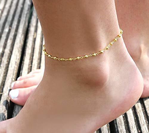 nouveau produit 58cb1 e5e27 Bracelet de cheville plaqué or - bracelet de cheville chaine ...