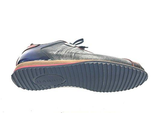 Scarpe Hand U16ha56 Made Uomo Pelle Harris Sneaker Rosso Blu Grey A354jRL