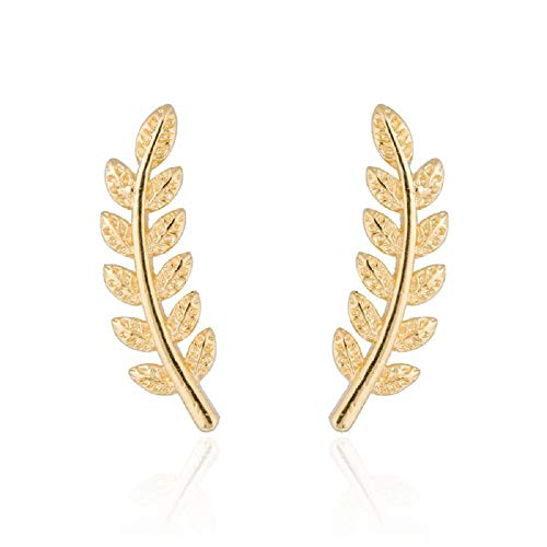 Used, NOUMANDA Ethnic Tiny Feather Stud Earrings Simple Leaf for sale  Delivered anywhere in USA