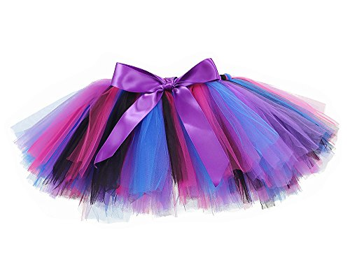 Tutu Dreams Little Mermaid Tutu for Girls Purple Black Halloween Tutus Skirt (Medium, -