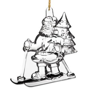 Marquis by Waterford 2013 Christmas Santa Claus 9th in Series Ornament, 3.75-Inch Waterford Crystal Christmas Tree Topper