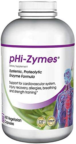 Baseline Nutritionals pHi-Zymes (Systemic Proteolytic Enzymes) 450 Count for Inflammation Support, Cardiovascular Health