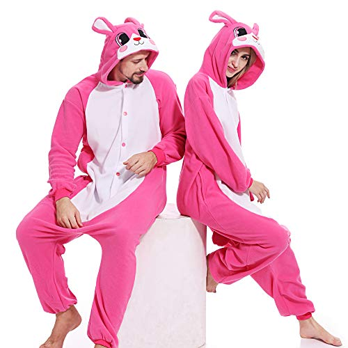 Adult Rabbit Animal Onesies Bunny Cosplay Pajamas Halloween