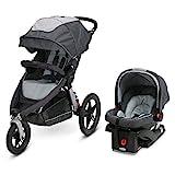 Graco Relay Jogging Stroller Travel System | Includes Relay Jogging Stroller and SnugRide 35 Infant Car Seat, Glacier