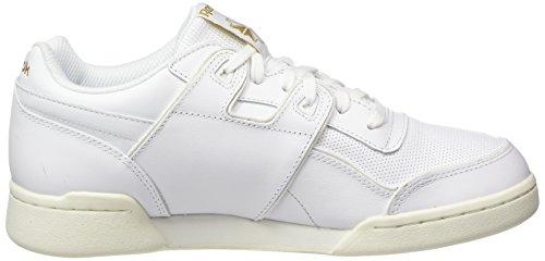Rbk Pour Hommes Neigeux Blanches Chaussures Gymnastique Gris De Reebok Craie blanches Alr Workout Plus Laiton qC80w6U