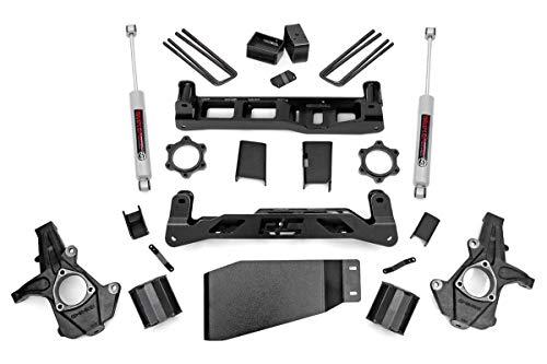 Rough Country - 262.20-5-inch Suspension Lift Kit w/Premium N3 Shocks for Chevrolet: 07-13 Silverado 1500 4WD; GMC: 07-13 Sierra 1500 4WD