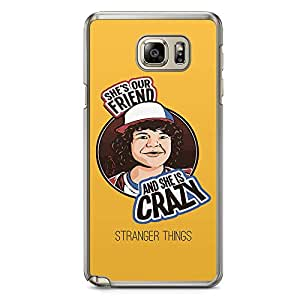 Loud Universe She is crazy Dustin Samsung Note 5 Case Stranger Things Samsung Note 5 Cover with Transparent Edges