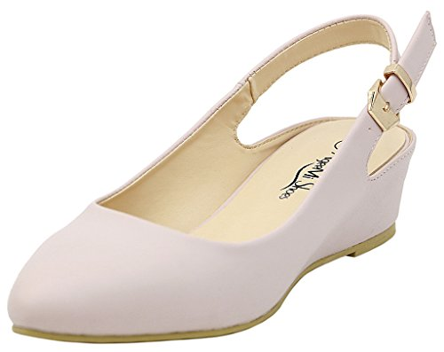 Pointed Couleur Femmes Escarpins Toe Court Ageemi Shoes Chaussures Unie Abricot a5tqaXw