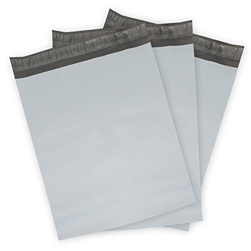 """Poly Mailers Envelopes Shipping Bags Self Sealing, 100 Bags,10""""x13"""" (White)"""