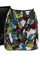 Silk Beaded Multi Sequin Skirt