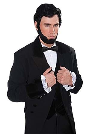 Forum Novelties Men's Abraham Lincoln Costume Wig and Beard, Black, One Size