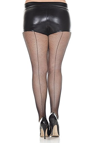 Black Back Seam Fishnet Tights - Sexy Backseam Fishnet Pantyhose by Queens Legs