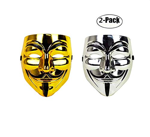Ru S Guy Fawkes Anonymous V for Vendetta Mask 2 Pieces -