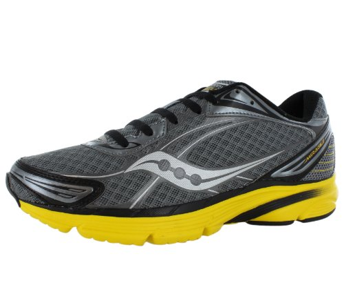 Saucony Men's Progrid Mirage 2 Running Shoe,Grey/Yellow,1...
