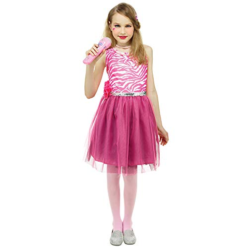 IDS Home 80's Pop Star Kids Dress Girls Dress Up Cosplay Costume -