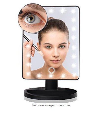 20 LED Lighted Vanity Mirror ,Portable Travel Cosmetic Mi...