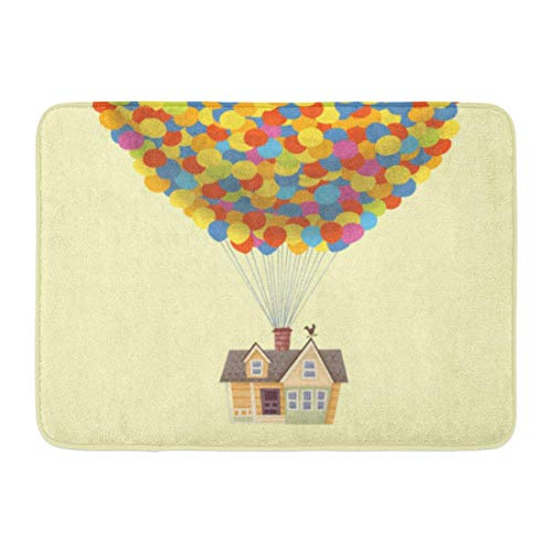 AMarlly Custom Doormats Balloon House from The Pixar
