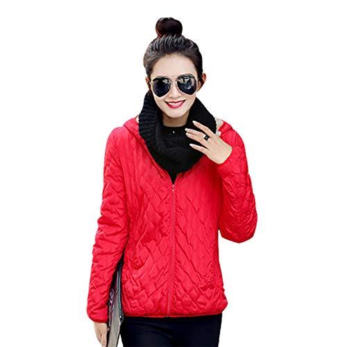 Piumino Autunno Cappotto Bozevon Moda Addensare Corto Imbottito Inverno Caldo E Donna Giacca Trapuntato Rosso Giacche zz0Oq