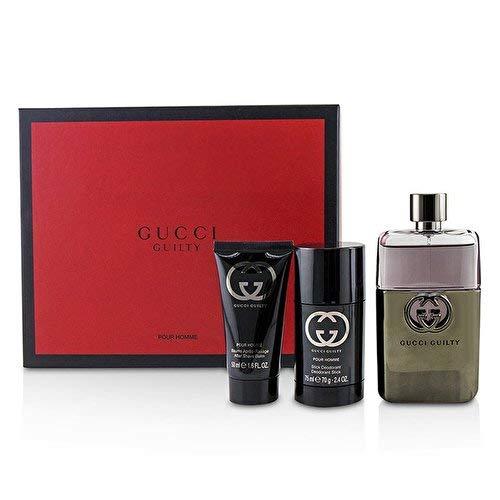 Gucci By Gift Set - Gucci Guilty By Gucci 3 Piece Gift Set - 3.0 Oz Eau De Toilette Spray, 2.4 Oz Deodorant Stick, 1.6 Oz After Shave Balm F