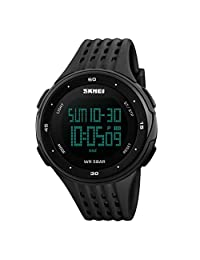 Singleluci SKMEI Men Waterproof Digital Sport Wrist Watch Multifunction Black