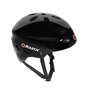Razor V-17 Youth Multi-Sport Helmet, Gloss Black