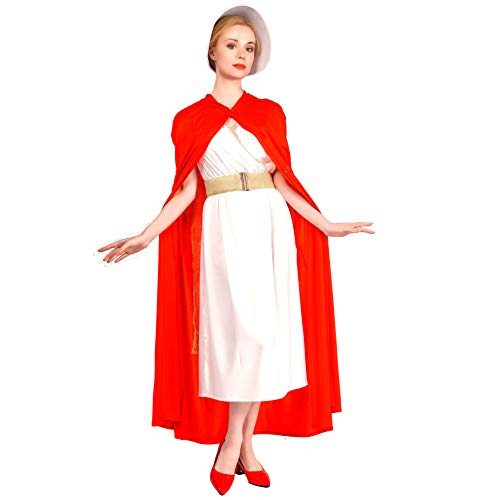 Women's Elegant Handmaid Red Cape Fancy -