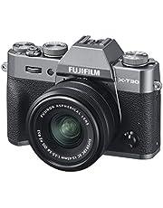 Fujifilm 16619401 X-T30 Mirrorless Digital Camera with XC15-45mm Lens Kit, Charcoal Silver