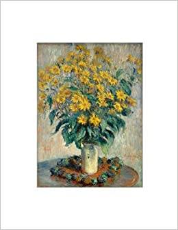 claude monet jerusalem artichoke flowers notebook decorative notebook 70 sheet ruled 85 x 11