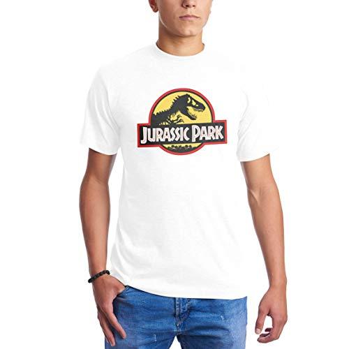 Bianca Per T Shirt Red Black Yellow Dinosour Uomo Logo Park Jurassic wqxPUB