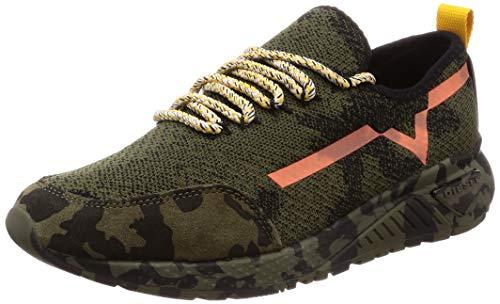 Diesel Men's SKB S-KBY-Camou Sneaker, Olive/Green, 9.5 M US