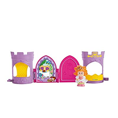 Fisher-Price Little People Queen Pop Open Castle: Toys & Games