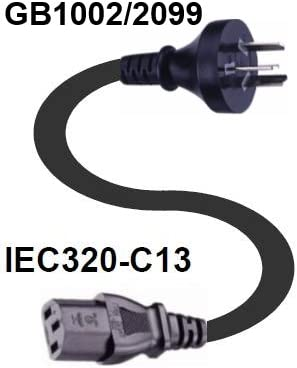 Webber Electronics CL60700 Chinese Power Cord 2.5 Meter CL60700