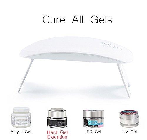 (6W SUN MINI UV LED nail dryer polish curing lamp professional nail art at home or solan (white))
