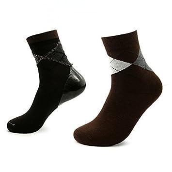 eDealMax 1 par de Argyle Imprime hidratante ablanda la piel del Gel agrietada del talón calcetines