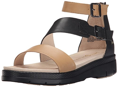 Jambu Womens Cape May Wedge Sandal Nude/Black VAhJsk2N
