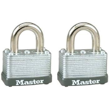 2-Pack 1-inch Master Lock 8525T Steel Padlock