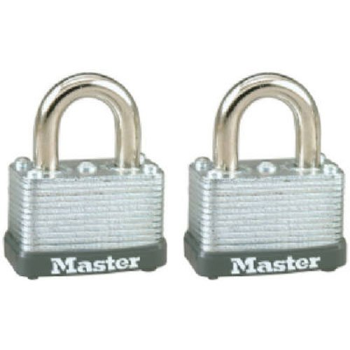 Master Lock Padlock Twin Pack 1-1/2 Keyed Different Carded