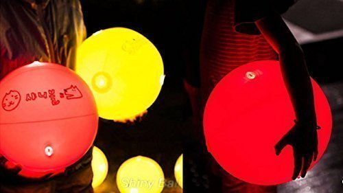 Light Up Beach Ball ([Shiny Ball] Glow-in-the-dark Beach Ball LED Light Up 11.8