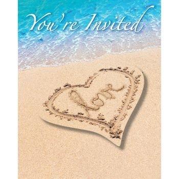 (Beach Love Invitation Postcard (8))