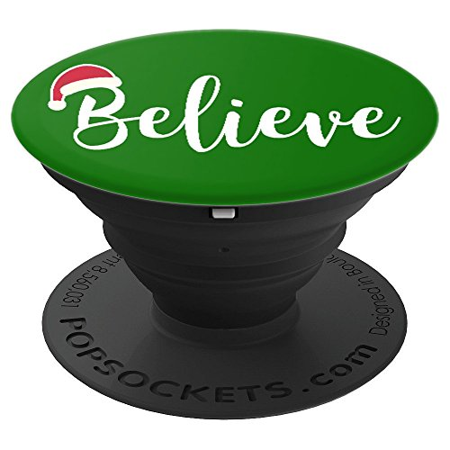 Christmas Santa Cap Cute Text Lettering Novelty Xmas - PopSockets Grip and Stand for Phones and Tablets