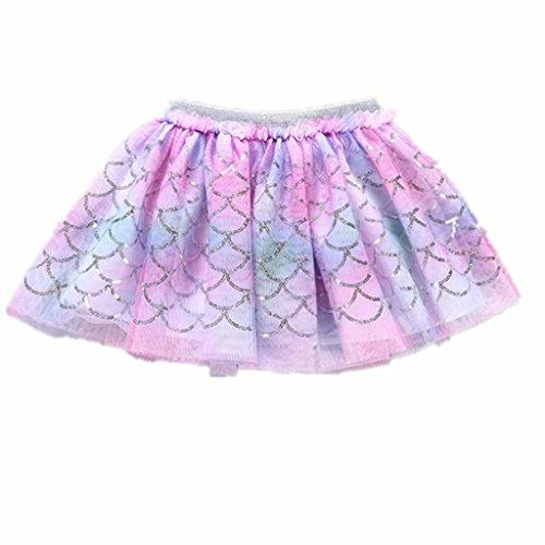 Little Girls Tutu Skirt Mermaid Sequins Mini Ballerina Birthday Rainbow Dresses (Ballerina Dress Heart)
