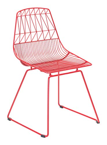 Zuo Dining Chair One Size Red (Chair Patio Zuo)