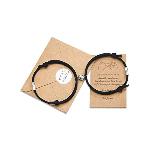 Tarsus Couples Magnetic Bracelets Mutual Attraction Eternal Love Relationship Matching Jewelry Gifts for Lover Women Men Bf Gf Friends